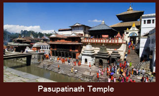 Pashupatinath Temple, the most revered Hindu shrine located in Kathmandu, Nepal.