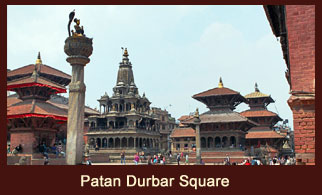Patan Durbar Square. Owing to a unique display of some of the finest ancient arts and architecture.