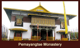The Pemayangtse Monastery is a Buddhist monastery in Pemayangtse, near Pelling in the northeastern Indian state of Sikkim.