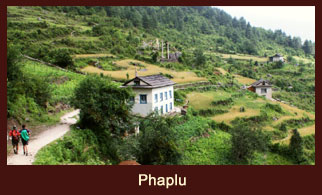 Phaplu, a busy town in Everest region of Nepal.