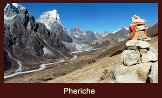 Pheriche, a polular trekkers' stop in the Everest region of Nepal.