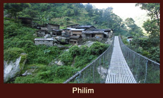 Philim, a small settlement in the Annapurna region of Nepal.