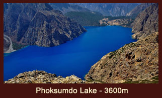 Phoksumdo Lake, is an alpine fresh water oligotrophic lake in Nepal's Shey Phoksumdo National Park, located at an elevation of 3730m above sea level in the Dolpo district, Nepal.