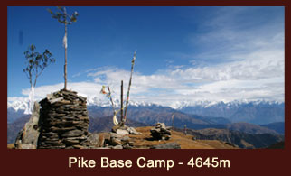 Pike Peak, one of the most frequently climbed peaks in the Everest region of Nepal.