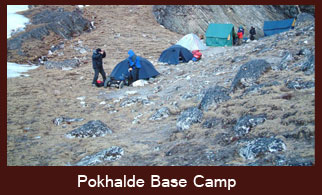 Pokhalde Peak Base Camp, Everest region, Nepal.