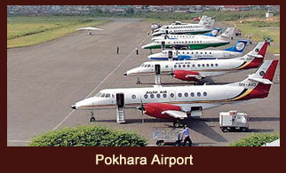 Pokhara airport, one of the cleanest regional airports in Nepal.