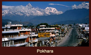 Pokhara, the lake city cum the famed tourist hot spot in Nepal.