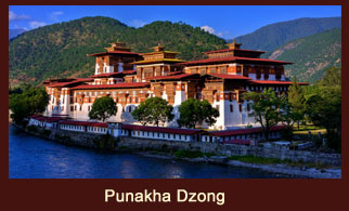 Punakha Dzong, also known as Palace of Happiness is the most beautiful and well-known fortress connected with Bhutan's historical traditions.