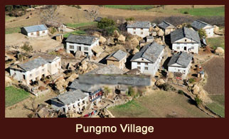 Pungmo Village, a hamlet in the far western region of Nepal famous for its Bonpo Monastery and Apple Orchard.
