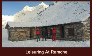 Leisuring at Ramche, Kanchenjunga region, Nepal.