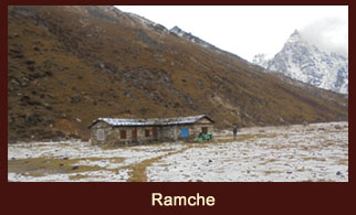 Ramche, a small settlement in the Kanchenjunga of Nepal.