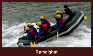Ramdighat, the concluding point of Kali Gandaki River rafting in Nepal.