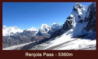 Renjo La (5360m), one of the most popular and daunting passes in the Everest region of Nepal.