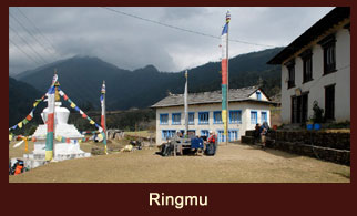 Ringmu, a 'Sherpa' dominated settlement in the Solukhumbu region of Nepal.