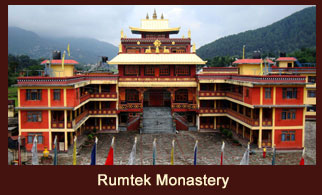 Rumtek Monastery in located about 24 kms away from Gangtok, the capital of Sikkim.