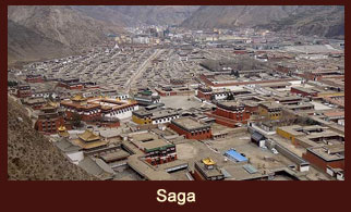 Saga also known as Happy Land, is an army town in Tibet.