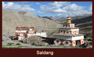 Saldang, poised on a plateau high above the settlement of Nam Khongmala & this scenic village is the largest in the inner Dolpo region of Nepal.