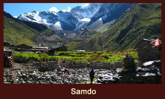 Samdo, a remote settlement in the Annapurna region of Nepal.
