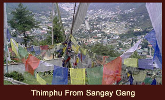 Sangay Gang, a vantage point in Bhutan that offers magnificent views of the capital, Thimphu.