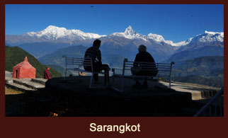 Sarangkot, a scenic oasis at an hour's drive from Pokhara, Nepal, that offers some of the greatest mountainous vistas of the Annapurna region.