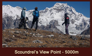 Scoundrel's View Point, a vantange point in the Everest region of Nepal offering marvelous views of Mt. Everest & Mt. Makalu.