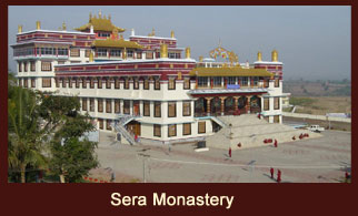 Sera Monastery, one of the major tourist attractions in the city of Lhasa in Tibet.