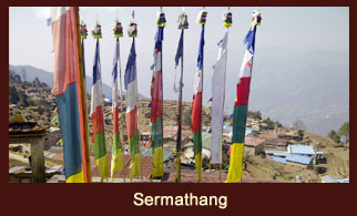 Sermathang, one of the former popular trekkers' stop in the Helambu region of Nepal.