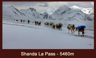 Sangda La pass (5460m), one of the high elevation passes in the far western region of Nepal.