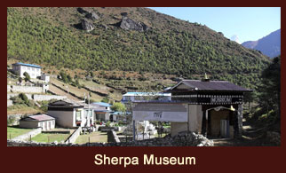 The Sherpa Museum is located at Namche Bazaar in the Solukhumbu district of Nepal.