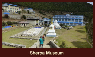The Sherpa Museum is located at Namche Bazaar in the Solukhumbu disctrict of Nepal.