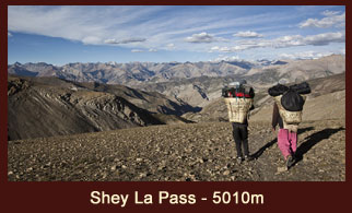 Shey La pass (5010m), one of the high elevation passes in the far western region of Nepal.