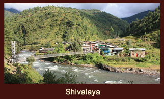 Shivalaya, a small village in the Everest region of Nepal, named after the supreme Hindu deity, 'Lord Shiva'.