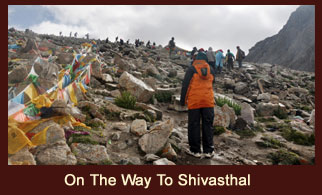 Shivasthal, another holy site in Tibet located on the way to Drolma La Pass (5757m).