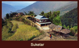 Suketar, a town in the Kanchenjunga region of Nepal known for its small airstrip.