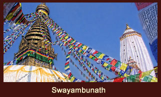Swayambhunath, one of the most revered Buddhist pilgrimage sites in Kathmandu, Nepal.
