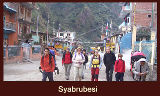 Syabrubesi boasts an array of hotels, shops and internet facilities.