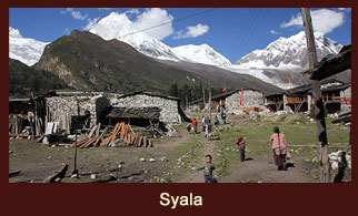 Syala, a lovely scenic village in the Annapurna region of Nepal that offers great mountain vistas.