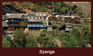 Syange, a settlement in the Annapurna region of Nepal.