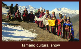 The 'Tamang' tribe of Nepal has a unique culture and life patterns which are exhibited through the cultural show.