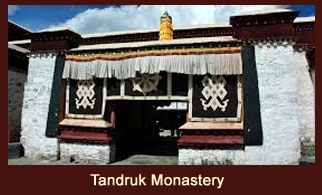 Tandruk Monastery, a 7th century architecture masterpiece in the Yarlung Valley of Tibet.