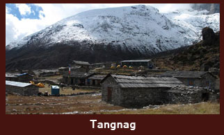 Tangnag, a small hamlet in the Everest region of Nepal, with a moderate number of tea-houses.