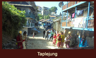 Taplejung, a busy town in the Kanchenjunga region of Nepal.