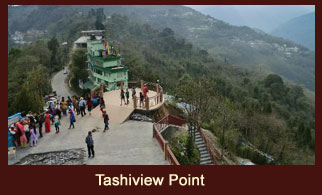 The Tashi View Point is located in Gangtok, the capital of Sikkim.