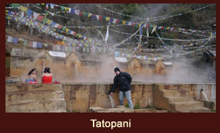 Tatopani, the natural geo-thermal hot spring in the Langtang region of Nepal regarded as one of the refreshment spots for the tired trekkers.