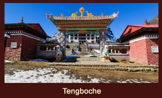 Tengboche is a village in the Khumbu region of northeastern Nepal, located at 3,860m