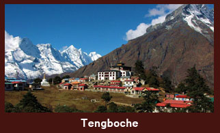 Tengboche is a village in the Khumbu region of northeastern Nepal, located at 3,860m.