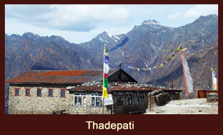 Thadepati, a village in the Langtang region of Nepal regarded as the vantage point to witness great views of the Langtang Himalayas.