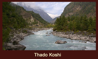 Thado Koshi, a river that flows through the Everest region in Nepal.