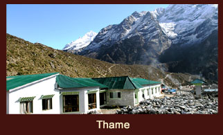 Thame, a settlement at the end of Khumbu valley in the Everest region of Nepal.