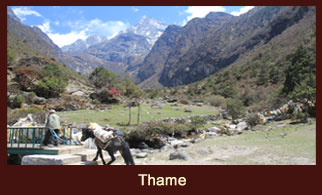 Thame, a settlement at the end of the Khumbu valley in the Everest region of Nepal.